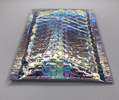 Holographic Design Mailers Bubble Padded Envelope Gift Wrap Multi Lot X 10 4x8