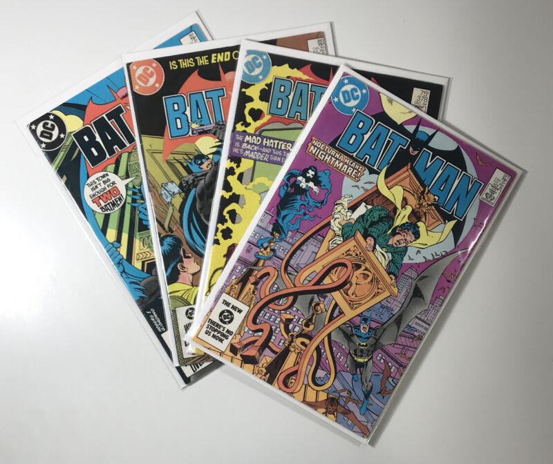 Batman #377, 378, 380, 381 (1984 DC Comics) 4 issue lot F/VF