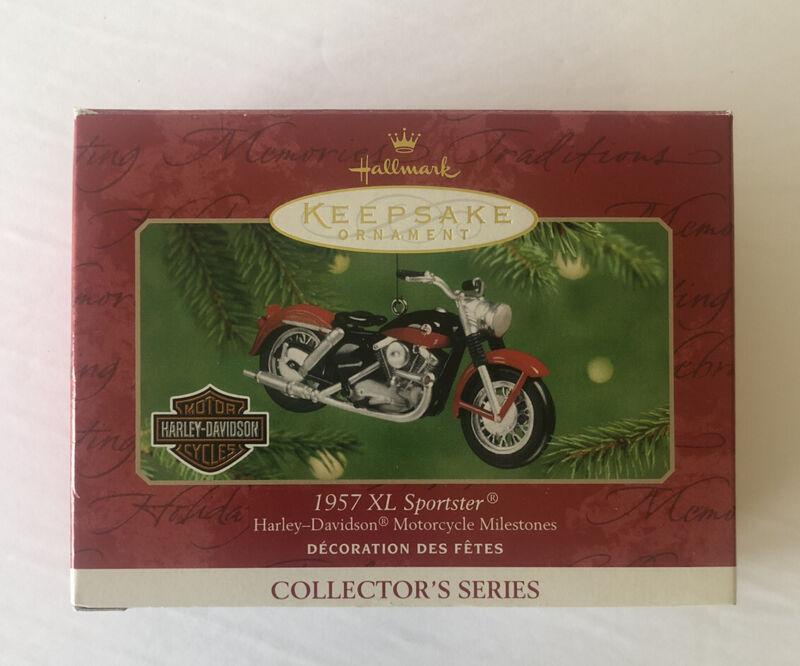 HALLMARK HARLEY-DAVIDSON 1957 XL SPORTSTER MOTORCYCLE CHRISTMAS ORNAMENT