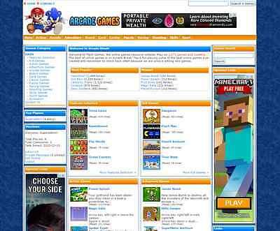Turnkey Arcade Website Script 2800 Games 100 Hosting Included