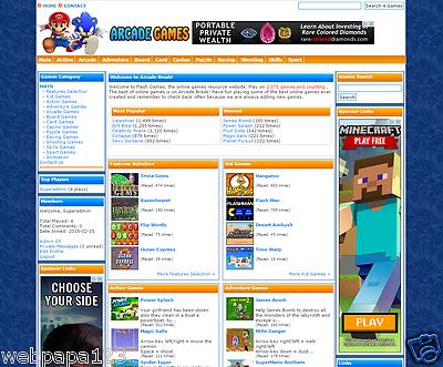 TURNKEY ARCADE GAMES WEBSITE SCRIPT- 2800 GAMES - 100% Automated Money Maker
