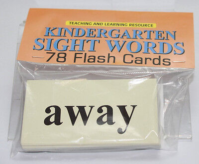 78 Sight Word - Flash Cards  Pre-school - Kindergarten  Teaching supplies  - Flash Cards Sight