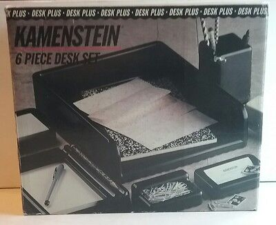 Kamenstein 6 Piece Desk Organization Set Black