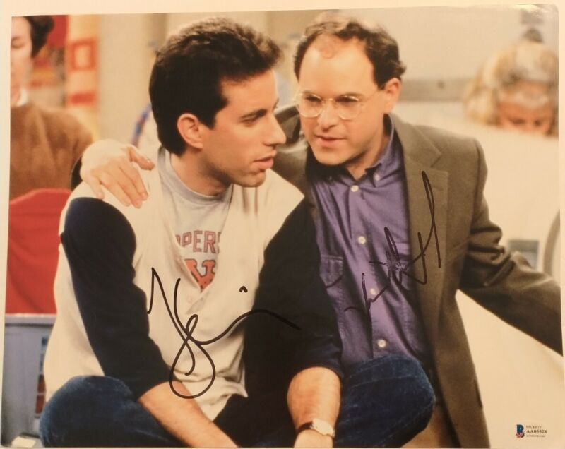 Jerry Seinfeld Jason Alexander TV Stars Signed Autographed 11x14 Photo BECKETT