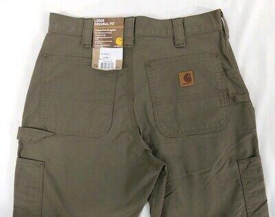 NEW Carhartt Canvas Work Dungaree Pants Loose Original Fit 32x30 Brown B151 NWT