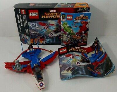 LEGO Marvel Super Heroes Captain America Jet Pursuit 2017 (76076) Complete