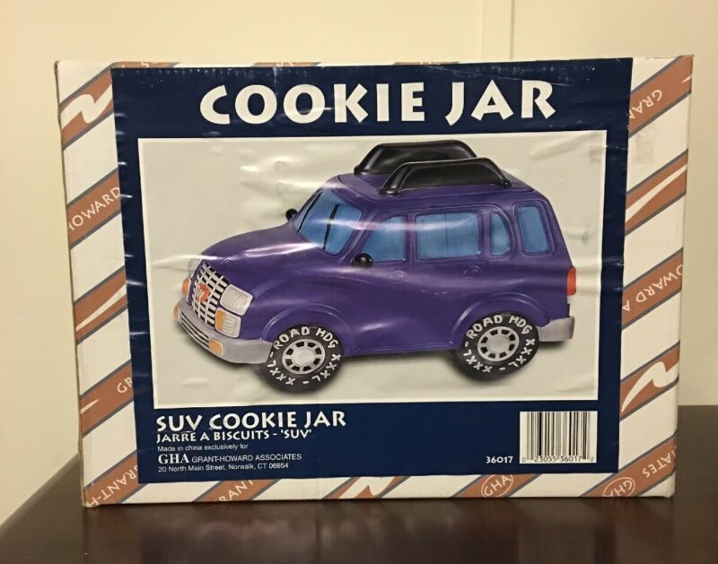 RARE Grant Howard Sport Utility Vehicle SUV Ceramic Cookie Jar Road Hog-XXXL