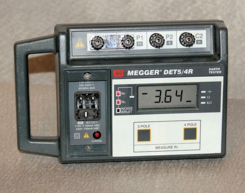 AVO MEGGER  DET5/4R  FOUR TERMINAL GROUND/EARTH  TESTER    FREE SHIPPING