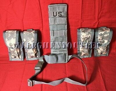NWT~ MOLLE ACU Drop Leg Extender Pistolman Set, (4) 9mm / 45cal Magazine Pouches