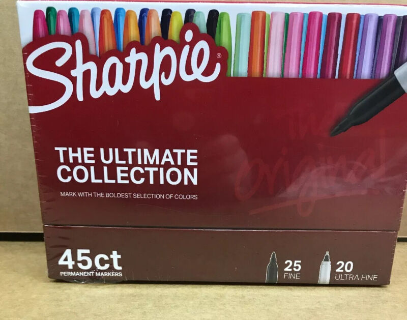 Sharpie Permanent Markers Ultimate Collection, Assorted Colors 45 Ct