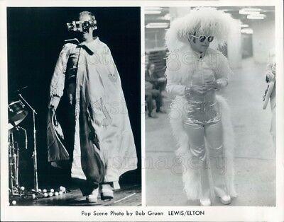 Press Photo Outlandish Stage Costumes Singer Elton John - Outlandish Costumes