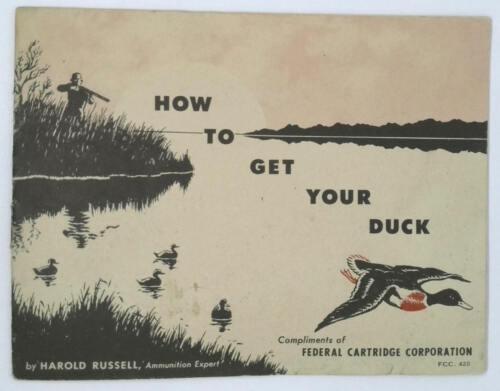 Vintage Federal Cartridge Company Minneapolis Minnesota Booklet Harold Russell
