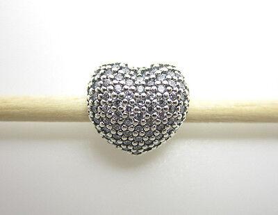 Authentic Pandora  791427Cz Pave Open My Heart Clip