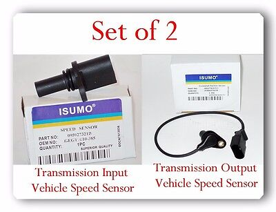 Set 2 Trans Output-Input Vehicle Speed Sensor For Golf City GTI Jetta & Beetle
