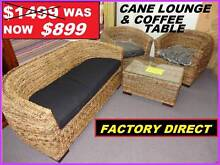 BRAND NEW LOUNGE CANE WITH COFFEE TABLE $899. RENTAL OPTION. Ipswich Ipswich City Preview