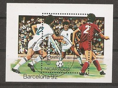 Nicaragua, Soccer . Barcelona'92.  Precancel.  MNH