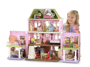 Fisher-Price Loving Family Grand Victorian Dollhouse Deluxe Mansion w/Furniture