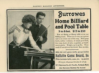 Другое 1904 Burrowes Billiard & Pool