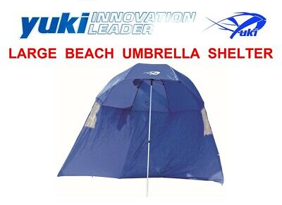 YUKI X-LARGE 2.5m COMPETITION BEACH UMBRELLA SHELTER SEA SURF FISHING BIVVY TENT