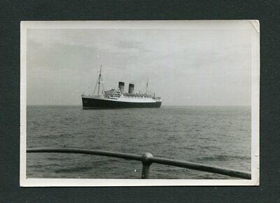 Ocean Liner Cruise Ship on Horizon Vintage Photo 471175