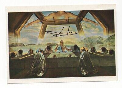 Salvador Dalí - Iconic Surreal Artist - Autographed 4x6 English Postcard