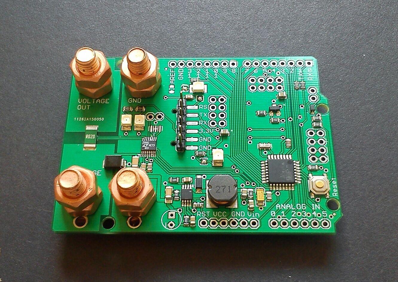 Power monitor LTC2946 and ATmega328p board w/ ESP8266 and NRF24l01+ socket