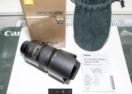 As New Nikon AF-S Macro Nikkor 105mm f/2.8G ED VR Lens