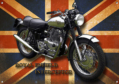 ROYAL ENFIELD INTERCEPTOR METAL SIGN