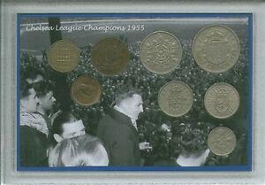 Chelsea FC Football League Champions Nostalgic Vintage Retro Coin Gift Set 1955