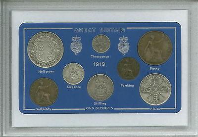 1919 GB Great Britain British Vintage Coin Set (98th Birthday Gift Birth Year)