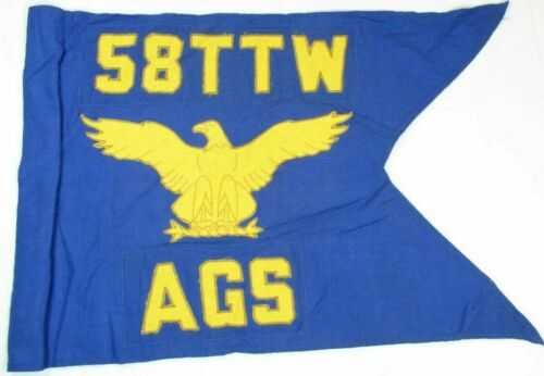 Official Military US Air Force USAF 58th TTW AGS Authentic Guidon Flag 2E4