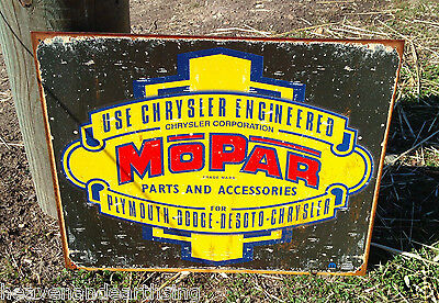 MOPAR PARTS Tin Metal Sign Wall Bar Garage Shop Classic Made in USA