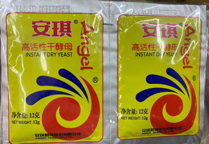 Angel Dry instant yeast 12 gram packs - 2, 4, 8, 10 pack options