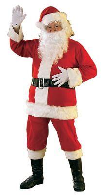 Rubies Erwachsene Flanell Weihnachtsmann Anzug Rand Kunstpelz Weihnachten (Rubies Weihnachtsmann Kostüm)