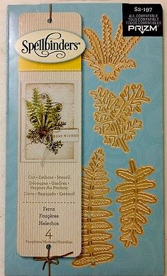 Spellbinders 4pc Cutting Dies Ferns Branches Thinlets Die Template New S2-197