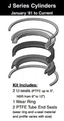 "Miller Cylinder 4""  Piston Seal Kit 091-KB001-400, J Series PTFE/Nitrile"