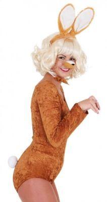 Orl - Zubehör zum Kostüm Hase in braun Karneval Fasching Ohren - Braun Hasenohren Kostüm