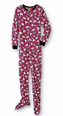 Classic Peanuts Snoopy Dog Footed Pajamas Costume NWT Plus 1X XL Limited Beagle](Snoopy Dog Costume)