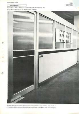 1960 Partition With Heater: Post Office In London, W.1. Sir Hugh Casson, ()
