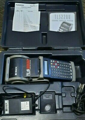 Brady Tls 2200 Thermal Transfer Printer Complete With Case