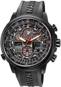 Citizen Eco-Drive Navihawk Atomic Alarm Chronograph Mens Watch JY8035-04E