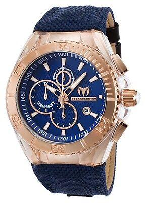 Technomarine Men's TM-115176 Cruise BlueRay Rose Gold Watch