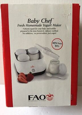 FAO Baby Chef Fresh Homemade Yogurt Maker BPA Free Jars Baby Food
