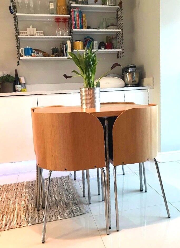 excellent condition used ikea fusion table and nest of 4 chairs i