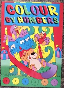 COLOUR BY NUMBERS BOOK CHILDREN'S A4 PAINTING COLOURING BOOK + COLOURING PENCILS