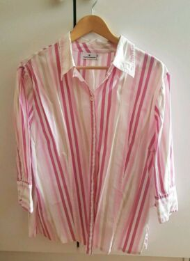 new concept good exclusive shoes Tom Tailor Bluse Gr. 44 rosa weiß Sommerbluse