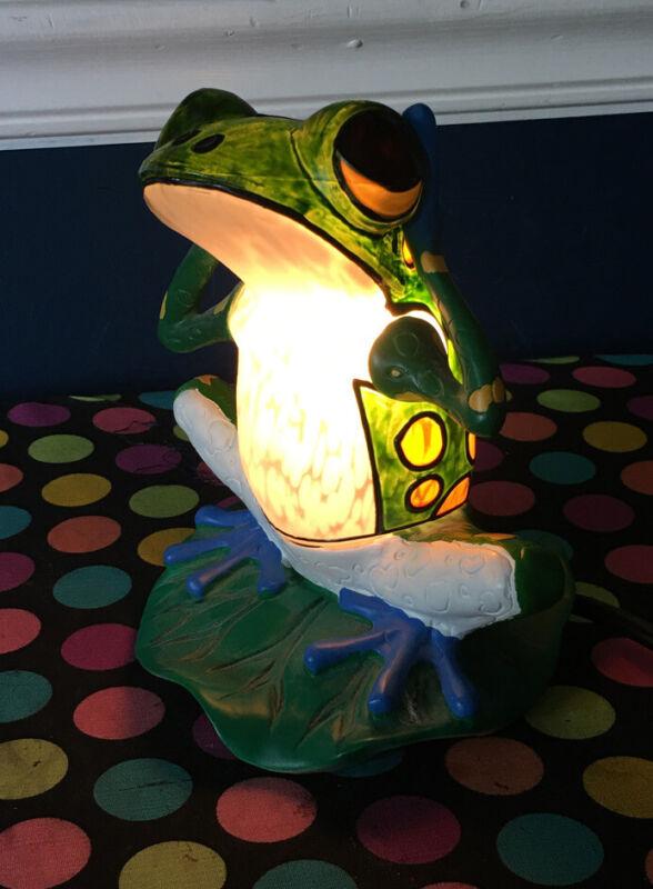Ceramic Frog Lamp