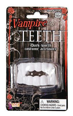 Soft Plastic White Vampire Dracula Dark Side Teeth Fangs](Teeth Fangs)