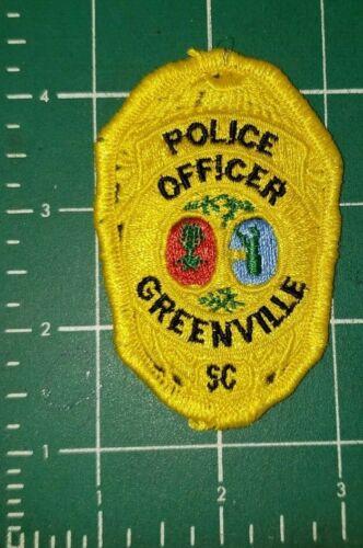 GREENVILLE SC SOUTH CAROLINA POLICE OFFICER PATCH