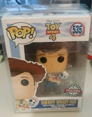 Sheriff Woody Holding Forky #535 - SPECIAL EDITION - Toy Story 4 - Funko Pop!